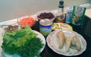 Салат из куриной грудки с фасолью ингридиенты