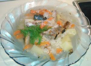 Cуп из рыбных консервов сайра