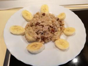 Как варить геркулес на молоке с бананом