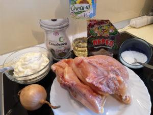 Куриная грудка рецепты на сковороде со сметаной ингридиенты
