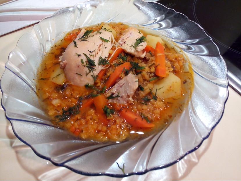 Суп с чечевицей и курицей рецепт вкусный и сытный