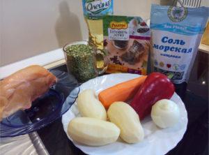 Как приготовить гороховый суп с курицей ингридиенты