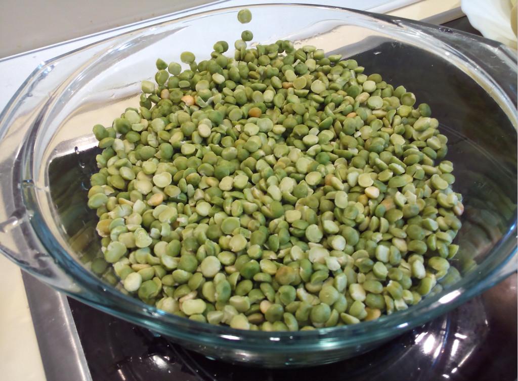 Зеленый горох колотый сушеный