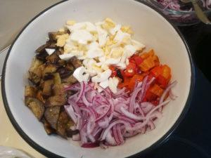 Салат с баклажаном и яйцом пошаговый рецепт с фото