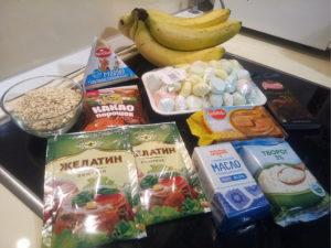 Чизкейк с бананами рецепт ингредиенты