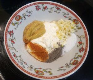 Заправка для салата с горчицей