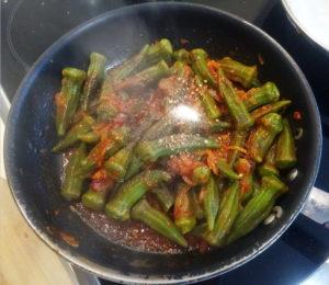 Как приготовить бамию на сковороде