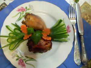 Курица с айвой в духовке рецепт с фото из бёдер