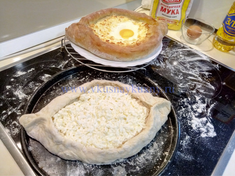 Аджарские хачапури лодочка рецепт с фото пошагово
