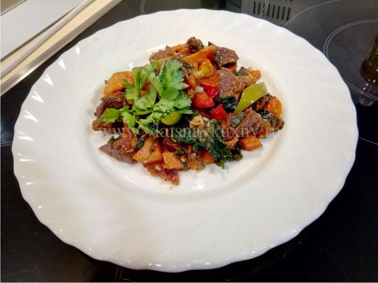 Мясо по абхазски с овощами рецепт с фото пошагово
