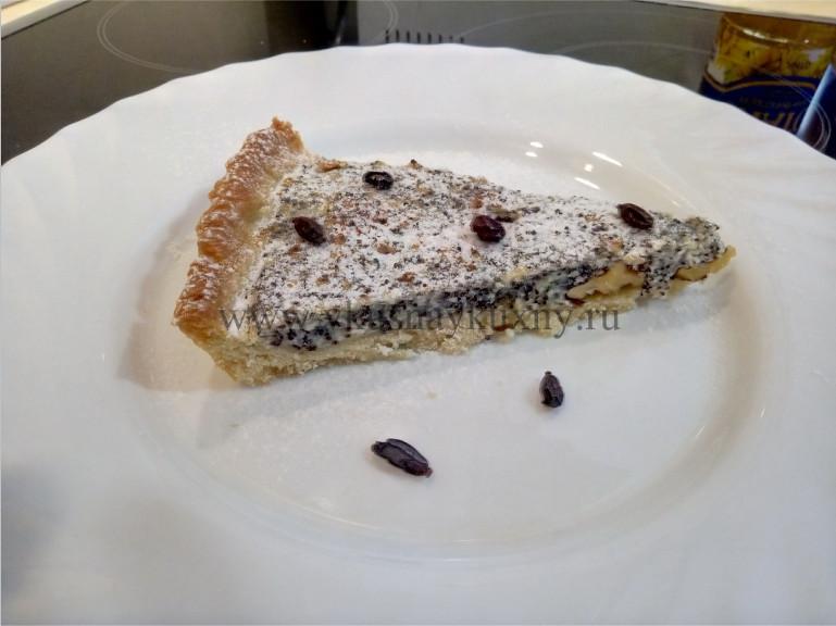 Творожно маковый пирог рецепт с орехами