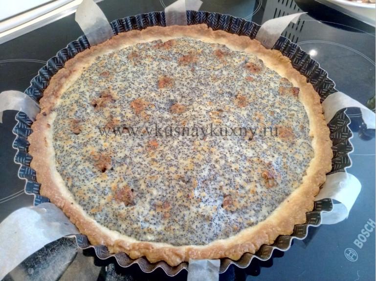 Творожный пирог с маком рецепт с грецкими орехами