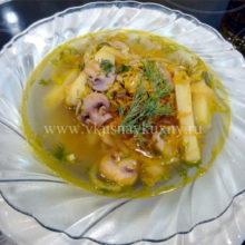 Суп овощной с шампиньонами