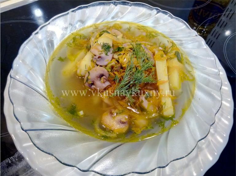 Грибной суп из шампиньонов рецепт с фото пошаговый