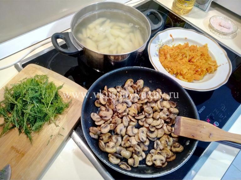 Как варить грибной суп из шампиньонов свежих