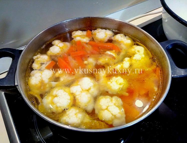 Постный суп из цветной капусты рецепты пошагово