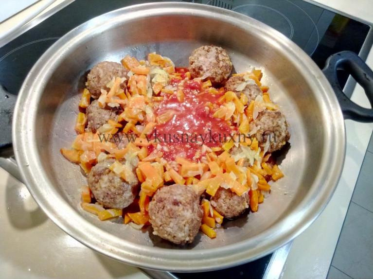 Тефтельки в томатном соусе рецепт с рисом