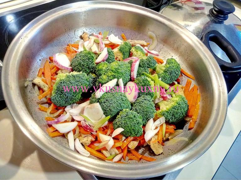 Брокколи рецепты приготовления на сковороде с куриным филе