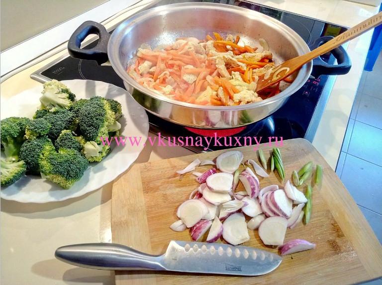 Как приготовить брокколи вкусно с куриным филе на сковороде