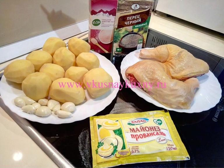 Рецепт окорочков в духовке с чесноком ингредиенты