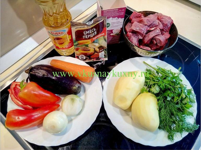 Как сделать рагу с мясом и картошкой на сковороде