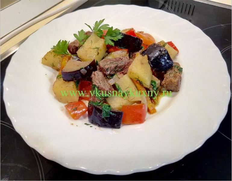 Овощное рагу с мясом рецепт с картошкой