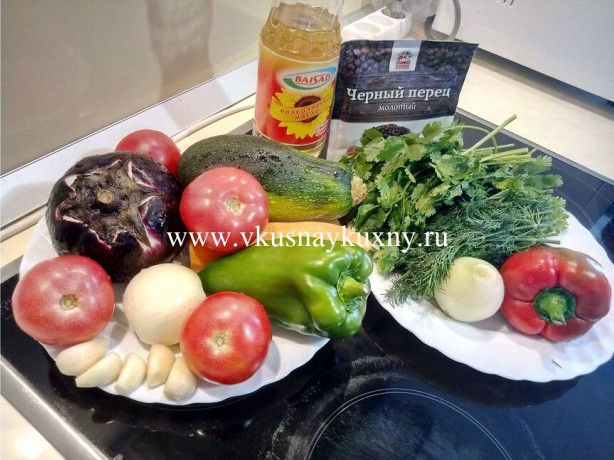 Рецепт приготовления соте из баклажанов с чесноком и зеленью