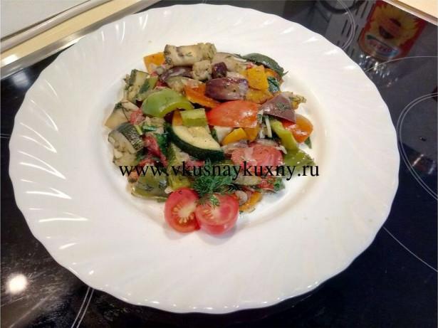 Соте из баклажан и кабачков рецепт с фото пошаговый с чесноком и зеленью