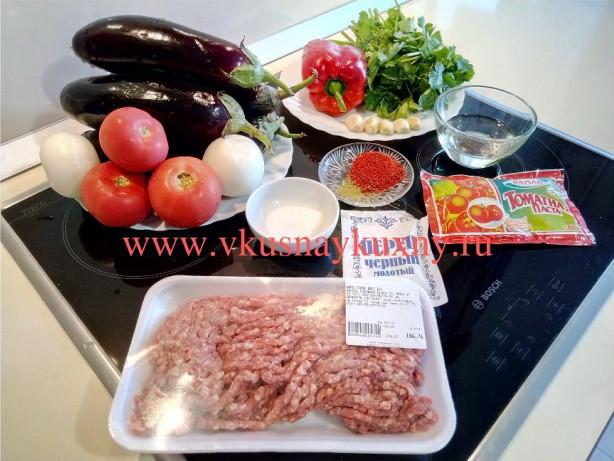 Баклажаны по турецки с фаршем рецепт с фото пошагово