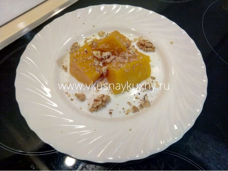 Тыква в сиропе рецепт по турецки с орехами