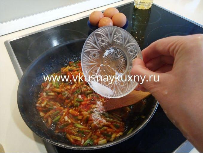 Как приготовить черемшу с томатом рецепт с яйцами