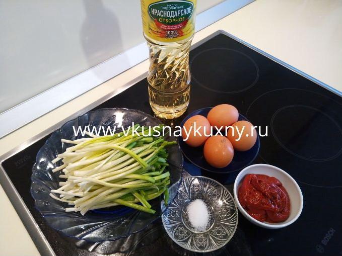 Яичница с черемшой рецепты приготовления