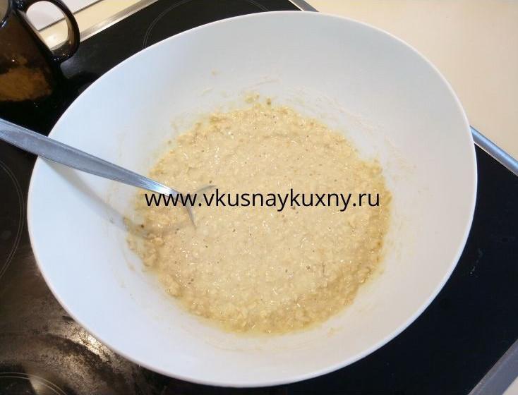 Готовое тесто на оладьи из геркулеса овсянки на молоке