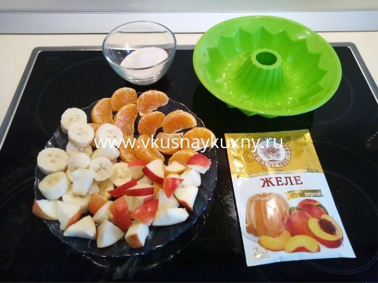 Приготовить желе в домашних условиях из фруктов вкусно