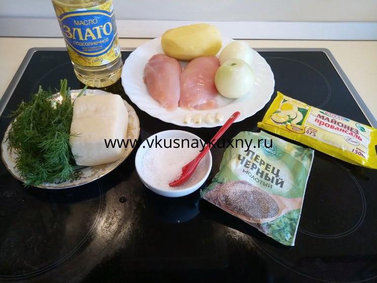 Рецепт куриной грудки по французски ингредиенты