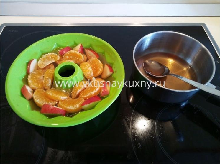 Желе с фруктами рецепт с фото в силиконовой форме