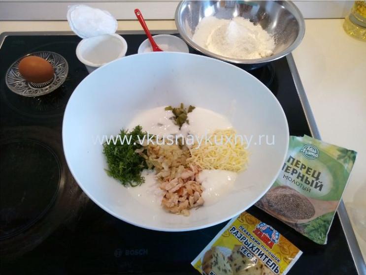 Куриные оладьи с кефиром рецепт теста с сыром
