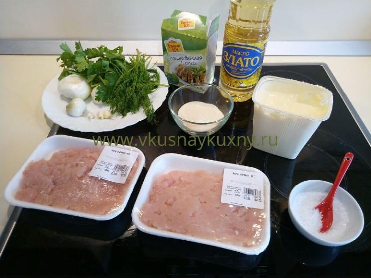 Рецепт тефтелей из куриной грудки ингредиенты