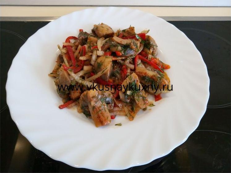 Шампиньоны маринованные по корейски рецепт с болгарским перцем