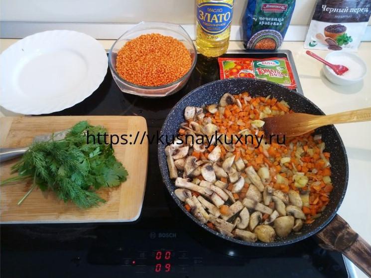 Чечевица рецепты приготовления на гарнир с овощами на сковороде
