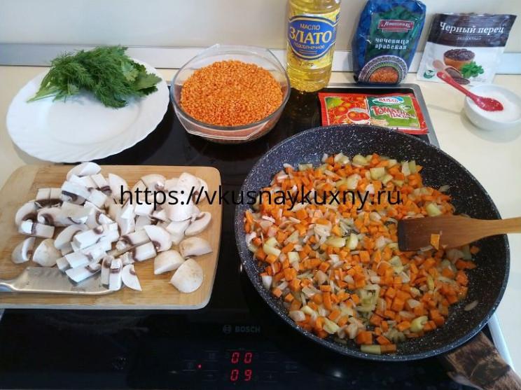 Чечевица рецепты приготовления на гарнир на сковороде