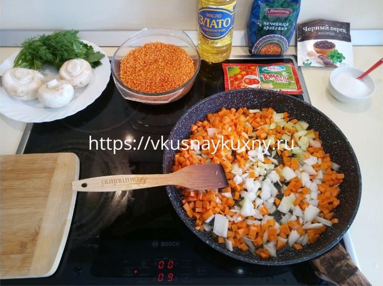 Гарнир из чечевицы рецепты просто и вкусно на сковороде