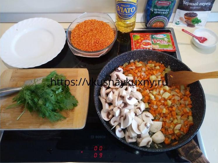 Как готовить красную чечевицу на гарнир на сковороде
