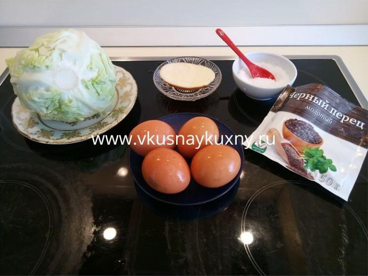 Как приготовить глазунью из яиц на сковороде с капустой