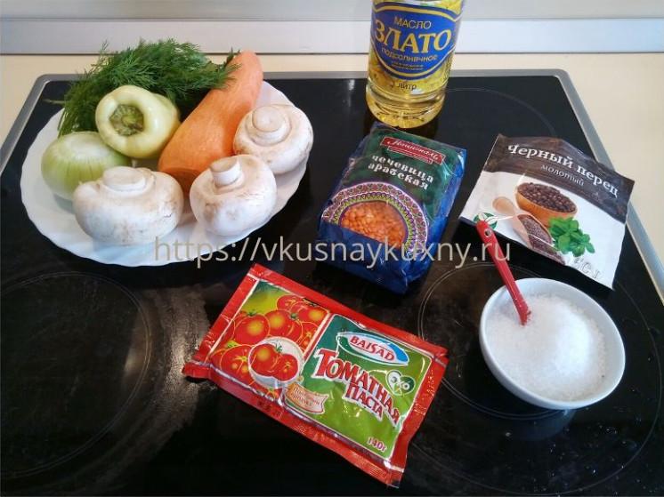 Как приготовить красную чечевицу на гарнир ингредиенты