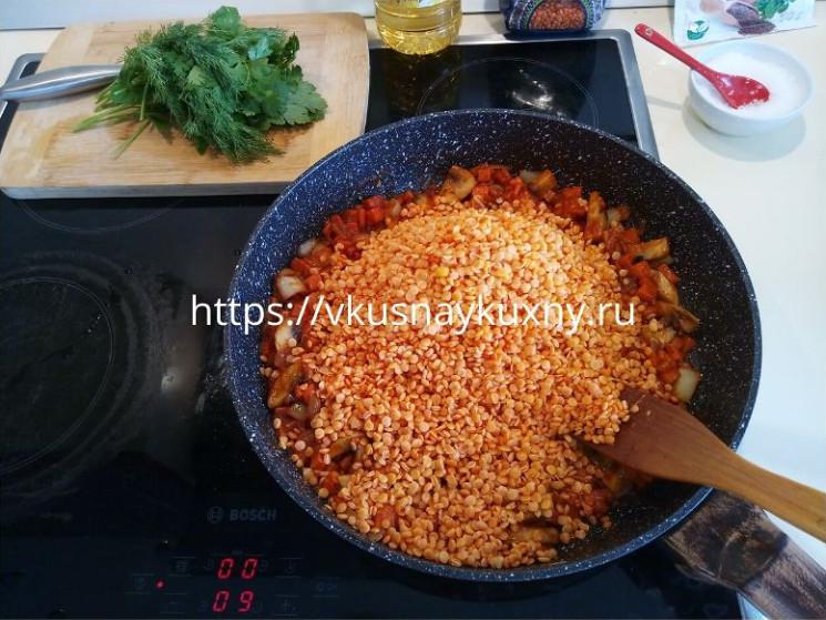 Красная чечевица рецепты приготовления на сковороде