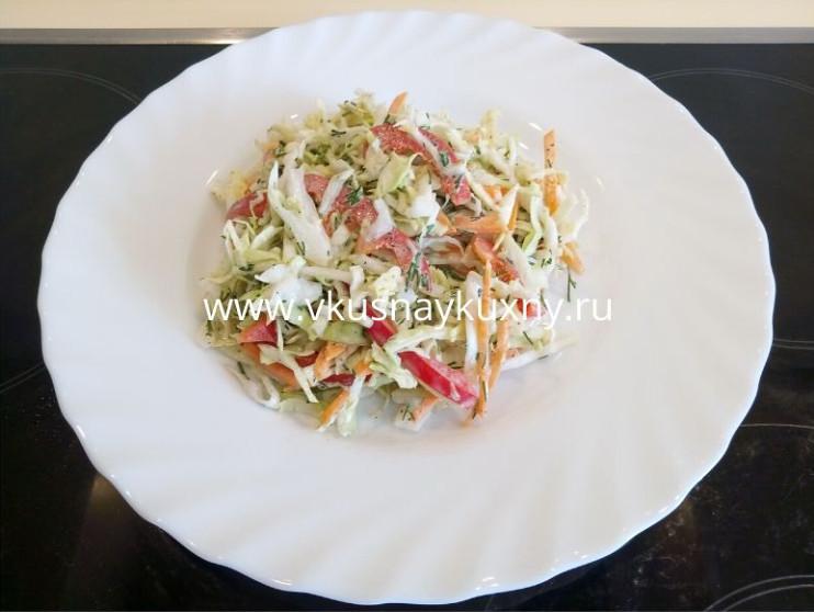 Салат из молодой капусты с морковью рецепт с майонезом