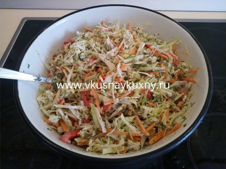 Салаты со свежей капустой рецепты с фото простые и вкусные с майонезом