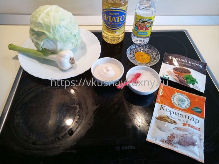 Маринованная капуста рецепт быстрого приготовления по корейски