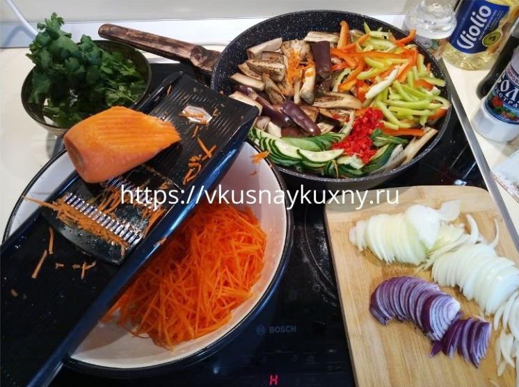 Баклажаны по корейски с морковью быстрого приготовления рецепт пошаговый